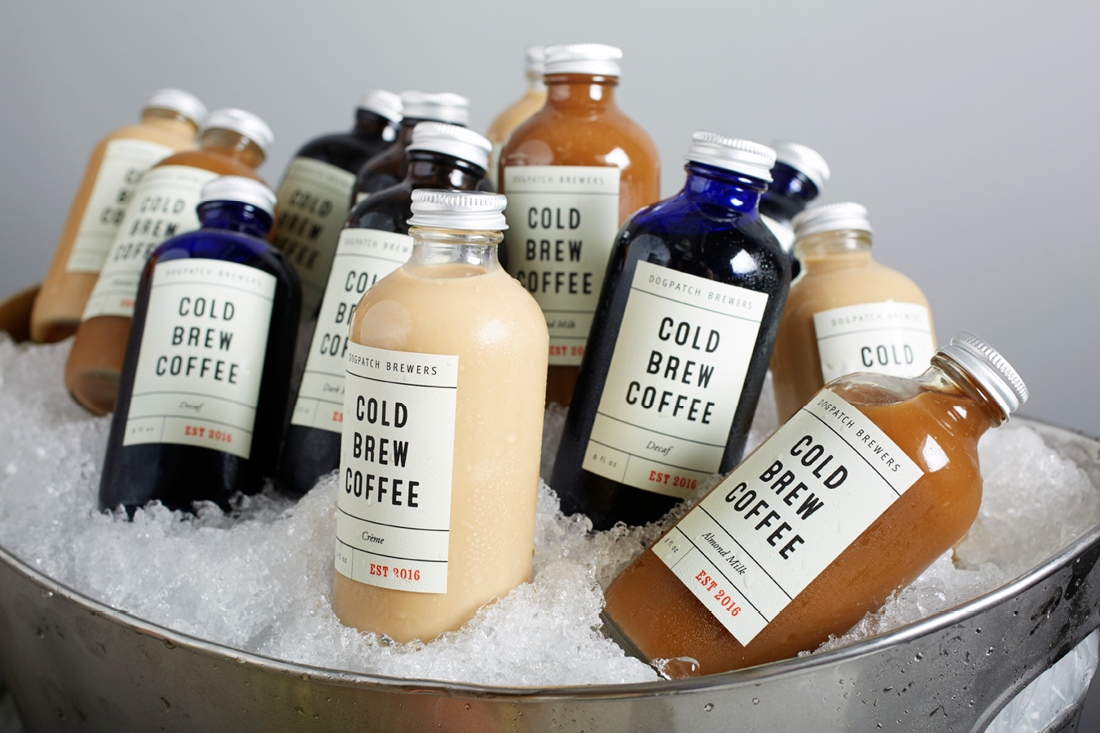 Selection of Iced Cold Brew Coffees from Dog Patch Brewers
