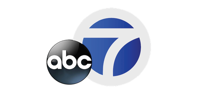 ABC 7 News Logo Black and White